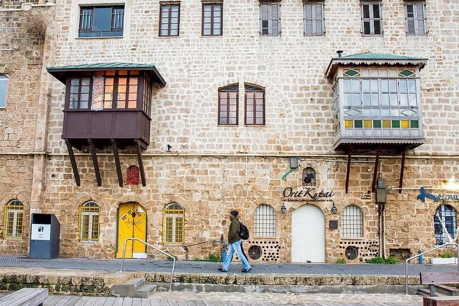 Building in Jaffa port