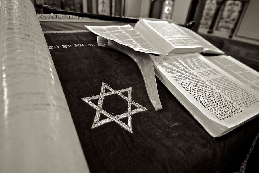 Star of David and Torah