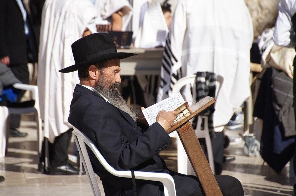 Orthodox Jewish Man Reading Book